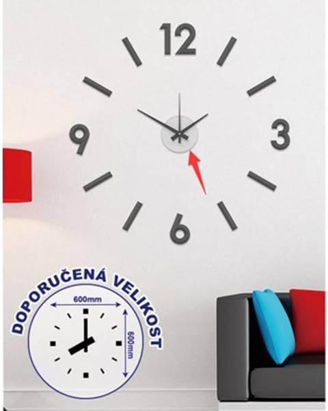 StarDeco Nástěnné hodiny - h16, 50 cm, černá