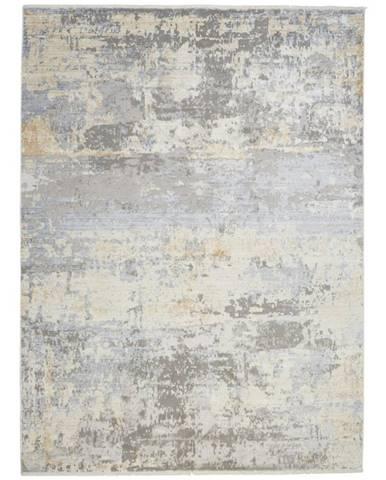 Dieter Knoll VINTAGE KOBEREC, 160/230 cm, barvy stříbra, curry žlutá - barvy stříbra, curry žlutá