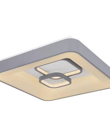 STROPNÍ LED SVÍTIDLO, 50/50/10 cm - šedá, bílá