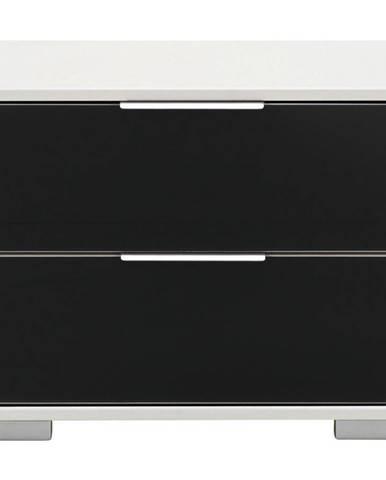 Carryhome NOČNÍ STOLEK, černá, bílá, 52/40/38 cm - černá, bílá