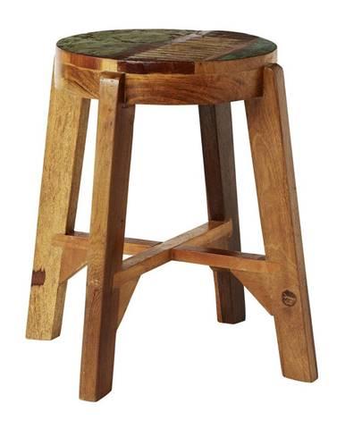 Ambia Home TABURET, dřevo, 36/46 cm - hnědá, vícebarevná