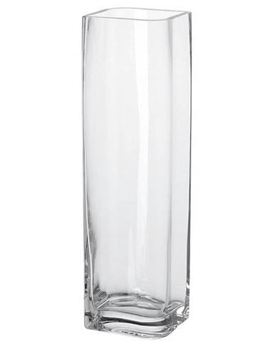 Leonardo VÁZA, sklo, 40 cm - čiré