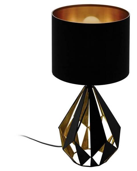 Esposa STOLNÍ LAMPA, E27, 25/51 cm - černá, měděné barvy