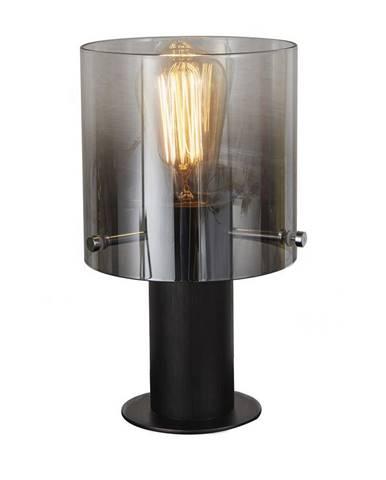 Dieter Knoll STOLNÍ LAMPA, E27, 15/26 cm - čiré, černá