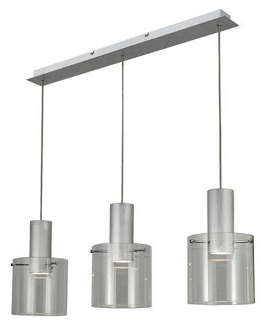 Dieter Knoll ZÁVĚSNÉ LED SVÍTIDLO, 90/20/120 cm - barvy hliníku, průhledné