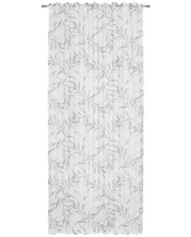 Esposa HOTOVÝ ZÁVĚS, poloprůhledné, 140/245 cm - šedá