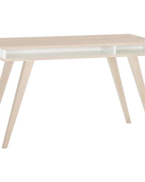 Carryhome Carryhome PSACÍ STŮL PRO MLADÉ, bílá, barvy dubu, 120/75/60 cm - bílá, barvy dubu