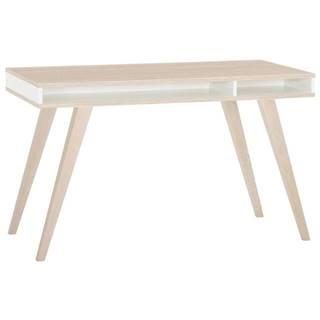 Carryhome PSACÍ STŮL PRO MLADÉ, bílá, barvy dubu, 120/75/60 cm - bílá, barvy dubu