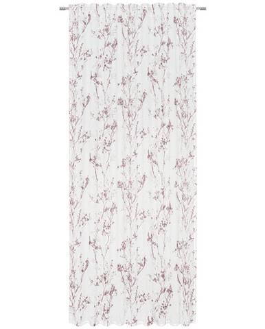 Esposa HOTOVÝ ZÁVĚS, poloprůhledné, 140/245 cm - červená, bílá