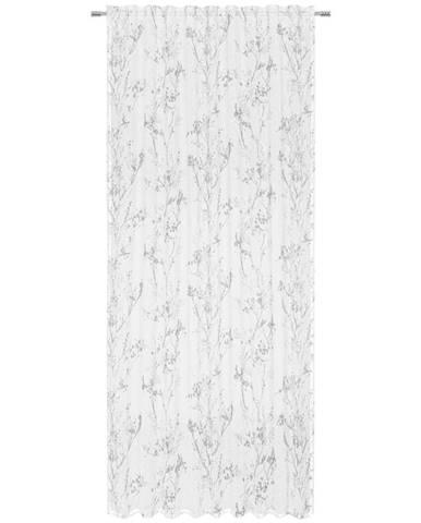 Esposa HOTOVÝ ZÁVĚS, poloprůhledné, 140/245 cm - šedá, bílá