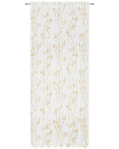 Esposa HOTOVÝ ZÁVĚS, poloprůhledné, 140/245 cm - žlutá, bílá