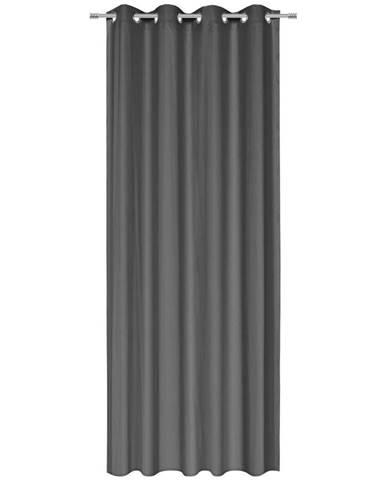 Esposa ZÁVĚS S KROUŽKY, neprůsvitné, 135/245 cm - antracitová