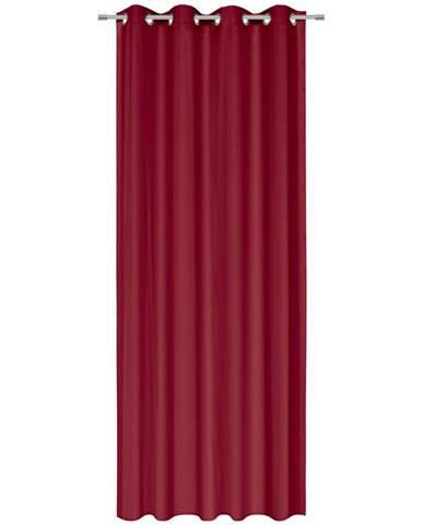 Esposa ZÁVĚS S KROUŽKY, neprůsvitné, 135/245 cm - tmavě červená