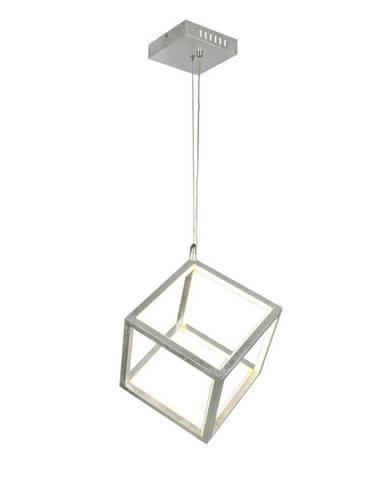 LED ZÁVĚSNÉ SVÍTIDLO, 43/120 cm - opál, barvy stříbra, bílá