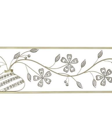 Ambia Home DEKORACE NA ZEĎ, 99/4/33 cm - barvy stříbra, barvy zlata