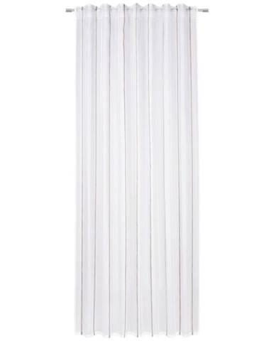 Esposa HOTOVÝ ZÁVĚS, poloprůhledné, 140/245 cm - bílá, béžová