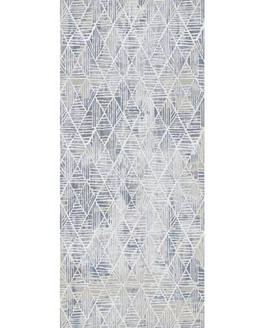 Novel TKANÝ KOBEREC, 160/230 cm, modrá, bílá - modrá, bílá