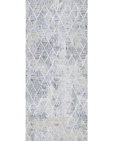 Novel TKANÝ KOBEREC, 80/250 cm, modrá, bílá - modrá, bílá
