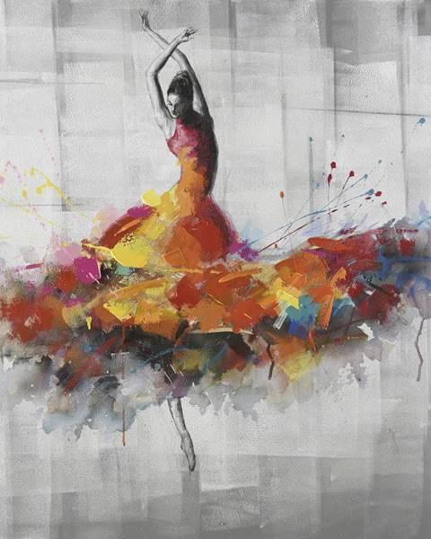 Monee Monee OLEJOMALBA, ženy, 85/85 cm - žlutá, šedá, červená, bílá