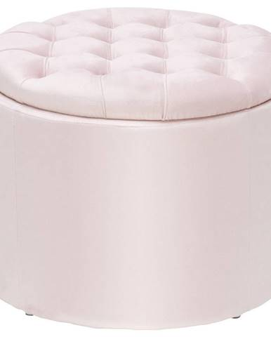 Ambia Home TABURET, dřevo, textil, 50/50/40 cm - růžová