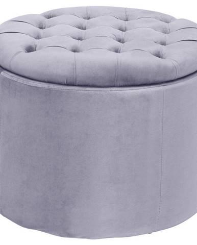 Ambia Home TABURET, dřevo, textil, 50/50/40 cm - šedá