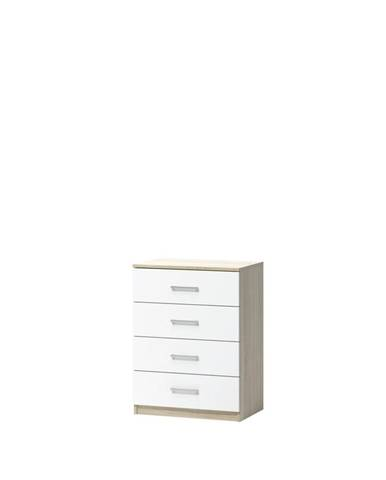 KOMODA, dub, 60/80/39.6 cm - bílá