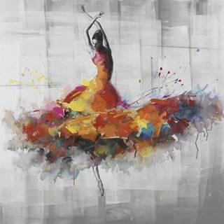 Monee OLEJOMALBA, ženy, 85/85 cm - žlutá, šedá, červená, bílá