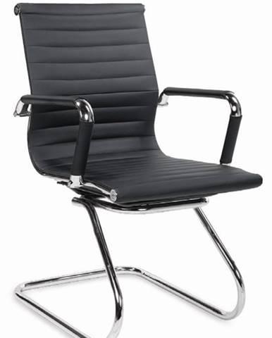Halmar Konferenční židle ADK Deluxe Skid, černá