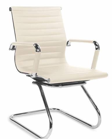 Halmar Konferenční židle ADK Deluxe Skid, krémová