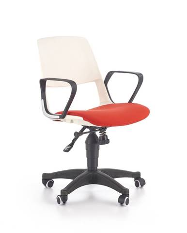 Halmar Dětská židle Jumbo, bílá/červená