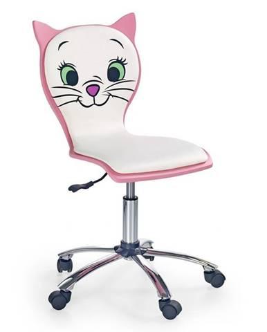 Halmar Dětská židle Kitty 2, bílá/růžová