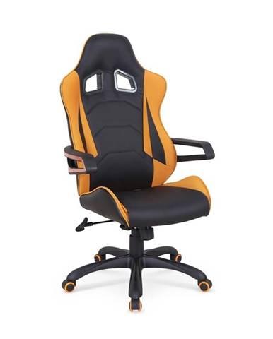 Halmar Herní židle Mustang, černá/oranžová