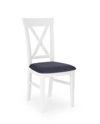Halmar Jídelní židle BERGAMO, bílá/tmavě modrá