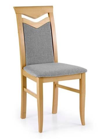 Halmar Jídelní židle Citrone, medový dub/šedá