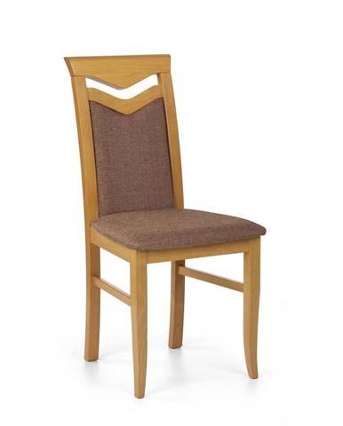 Halmar Jídelní židle Citrone, olše/hnědá