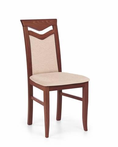 Halmar Jídelní židle Citrone, třešeň/krémová