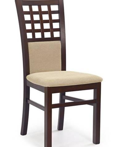 Halmar Jídelní židle GERARD 3, tmavý ořech/TORENT béžová