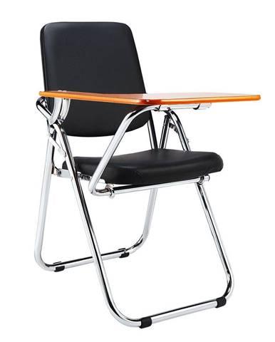 Tempo Kondela Konferenční židle s deskou na psaní Soner, černá