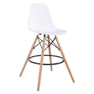 Barová židle UNO bílá