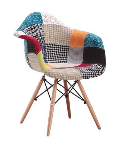 Jídelní židle DUO patchwork barevná