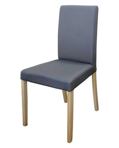 Židle PRIMA šedá/světlé nohy