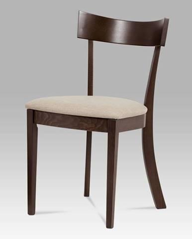 Jídelní židle BC-3333 WAL, krémová/ořech