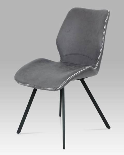 Smartshop Jídelní židle HC-440 GREY3, šedá látka vintage/kov černý