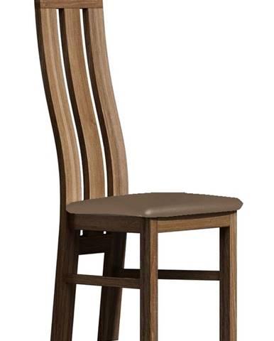 Čalouněná židle PARIS, dub lefkas/Victoria 31