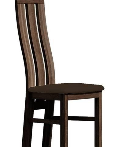Čalouněná židle PARIS, tmavý jasan/Victoria 36