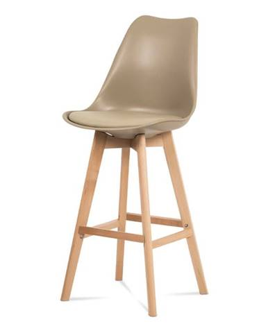 Jídelní židle CTB-801 CAP, cappuccino plast+ekokůže/buk masiv