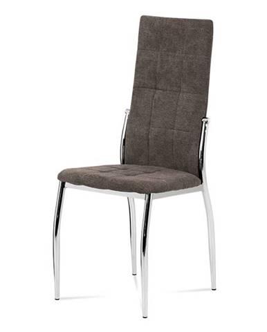 Jídelní židle DCL-213 LAN2, lanýžová látka/chrom