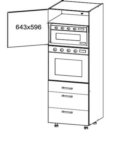 SOLE vysoká skříň DPS60/207 SAMBOX levá, korpus wenge, dvířka bílý lesk