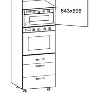 SOLE vysoká skříň DPS60/207 SMARTBOX pravá, korpus šedá grenola, dvířka dub arlington