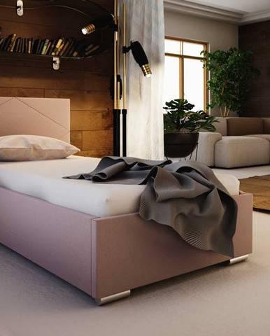 Čalouněná postel SOFIE 5 80X200 cm, růžová látka